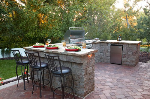 Stone Table Outdoor Kitchen