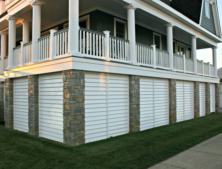 Stone and Wood Deck Skirting Ideas