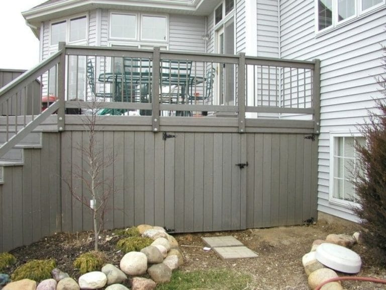 Storage Deck Skirting Ideas