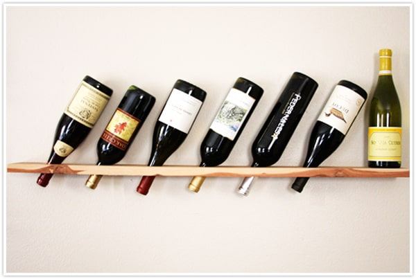 Straightforward Plank Wine Rack