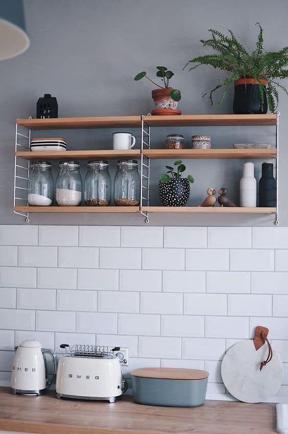 String Open Kitchen Shelving