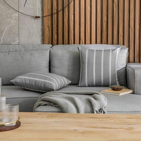 Striped Grey Pillow Ideas For A Gray Couch