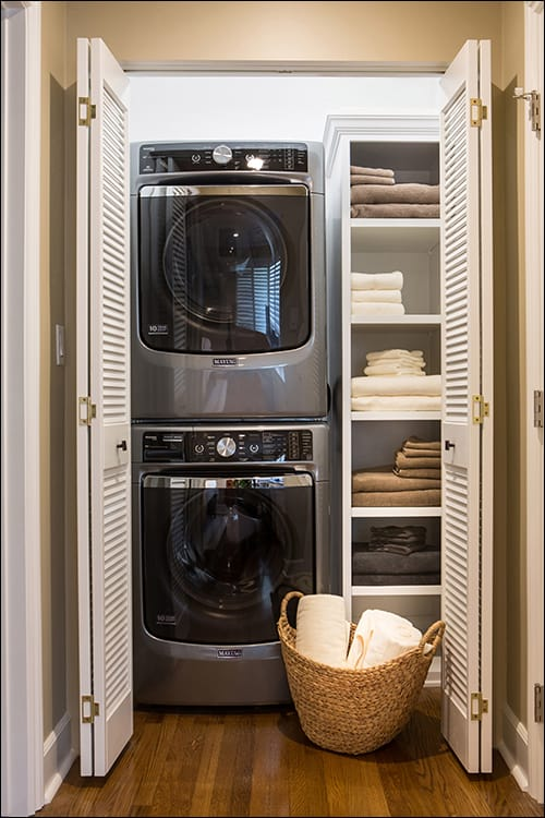 Stylish Tiny Laundry Room