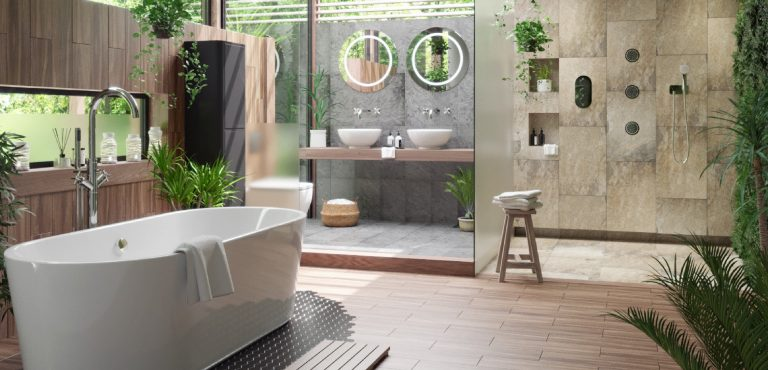 Stylish Tropical Bathroom Idea