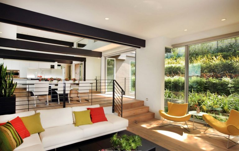 Sunken Living Rooms And Dining Room