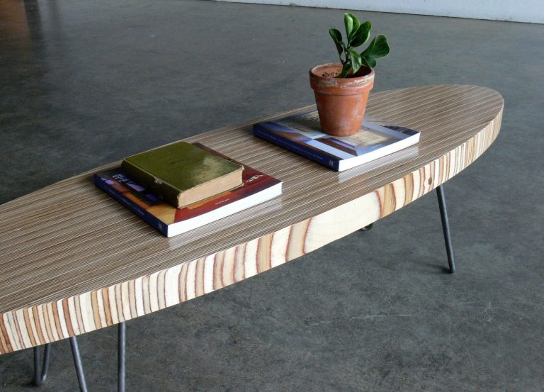 Beach Theme: Surfing Board Inspired Coffee Table
