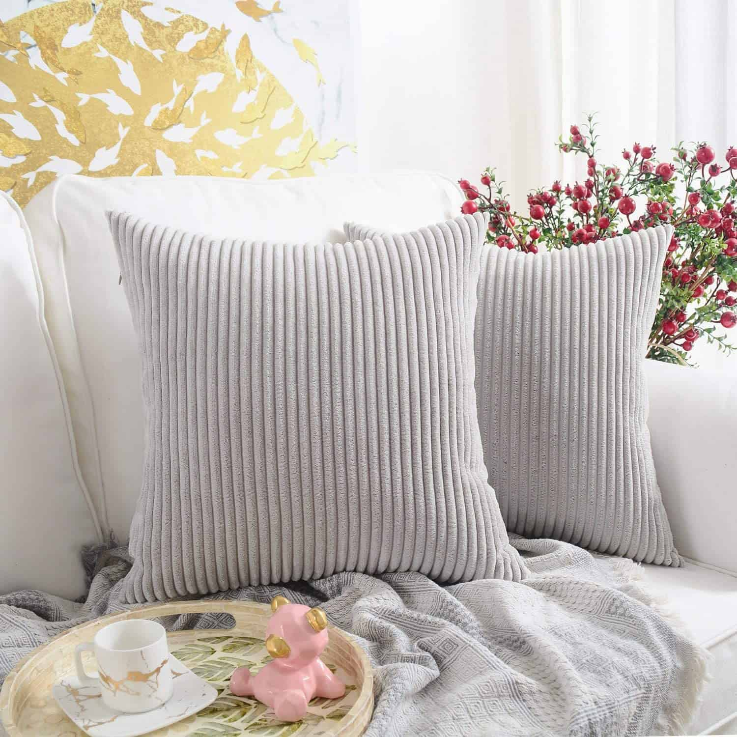 Textured Pillow Ideas For a Gray Couch