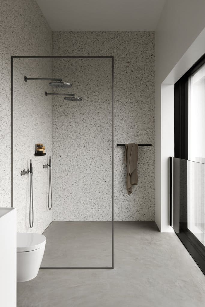 Textured Wall Modern Shower