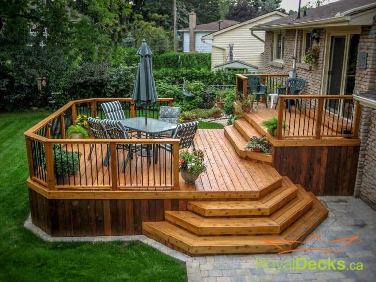 Tiered Steps Deck Skirting Ideas