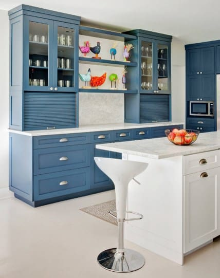 Traditional Blue Kitchen Cabinet