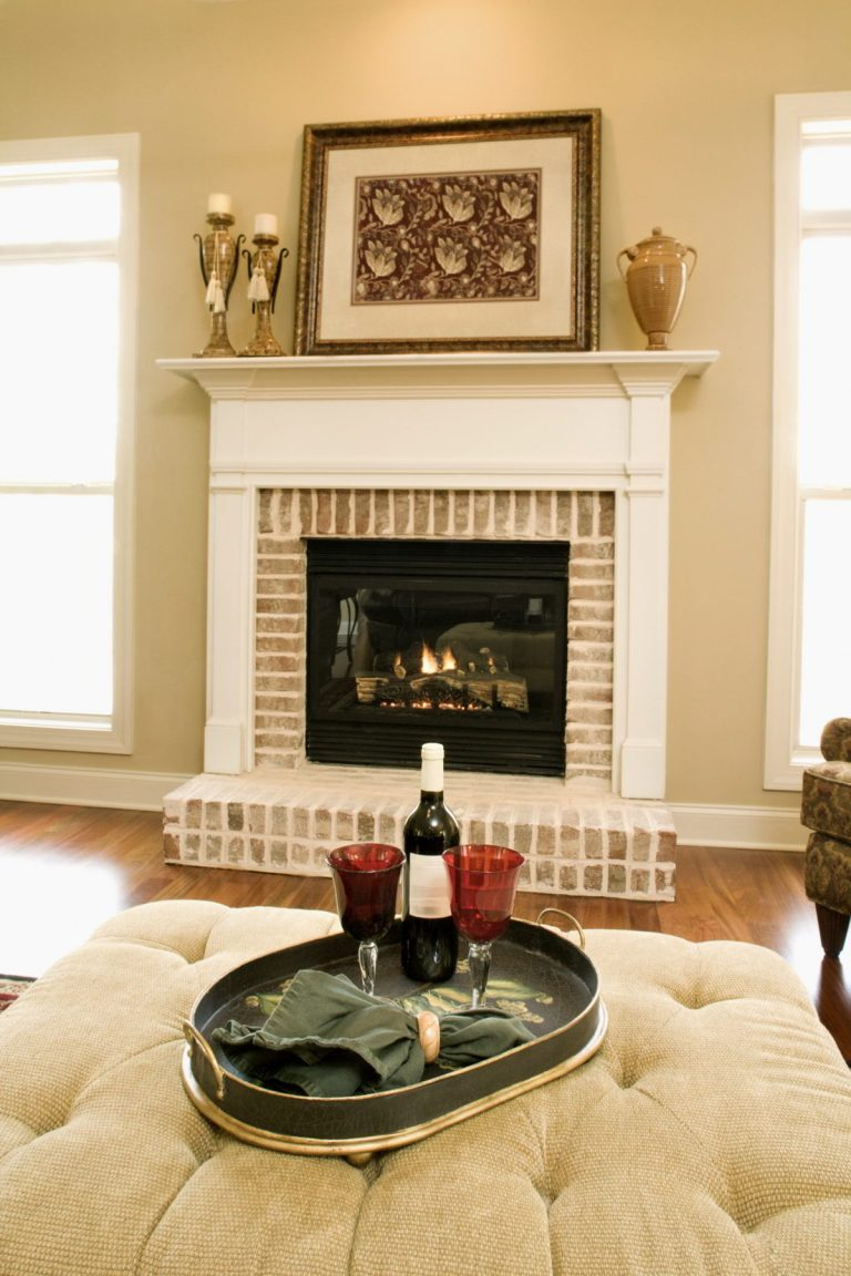 Classy Traditional Brick Fireplace Tiles