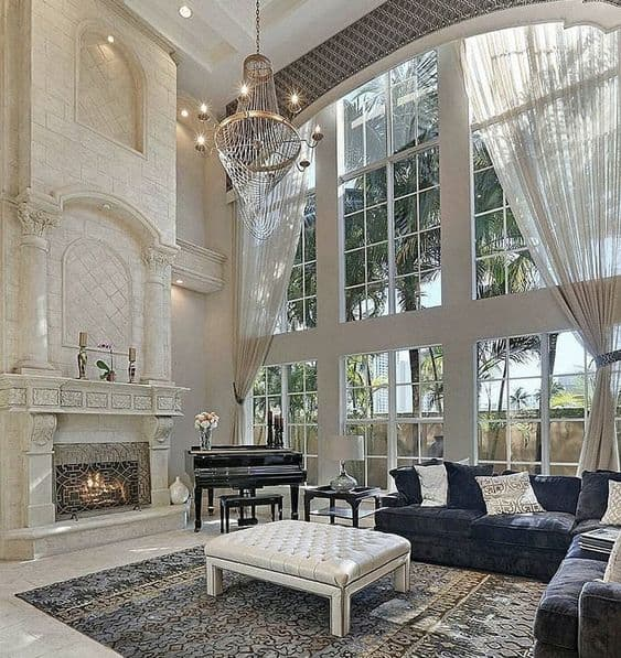 Traditional Classy Mansion Living Rooms