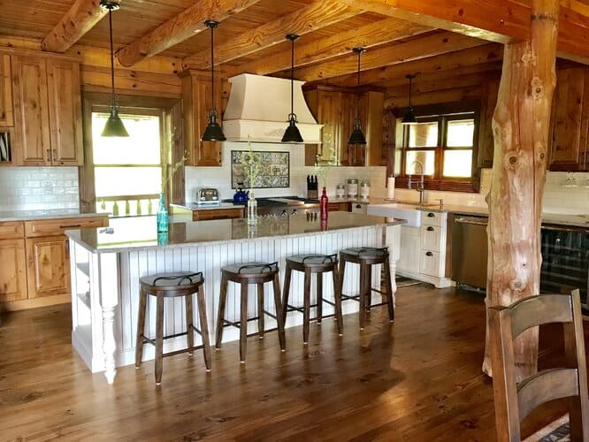 Traditional Rustic Kitchen Cabinet