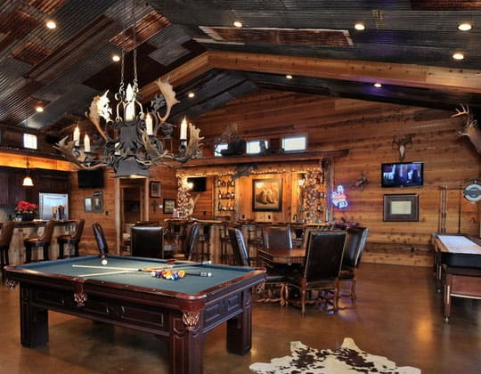 Traditional Rustic Man Cave Ideas
