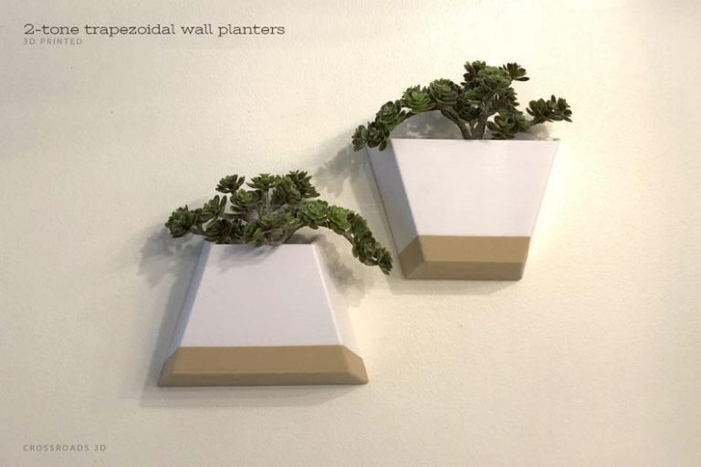 Trapezoidal Indoor Wall Planters
