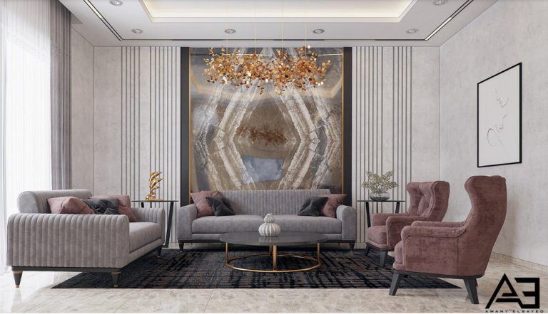 Trendy Mansion Living Rooms