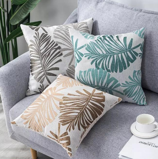 Tropical Pillow Ideas For A Gray Couch