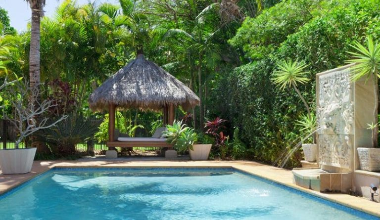 Tropical Pool Cabana Ideas