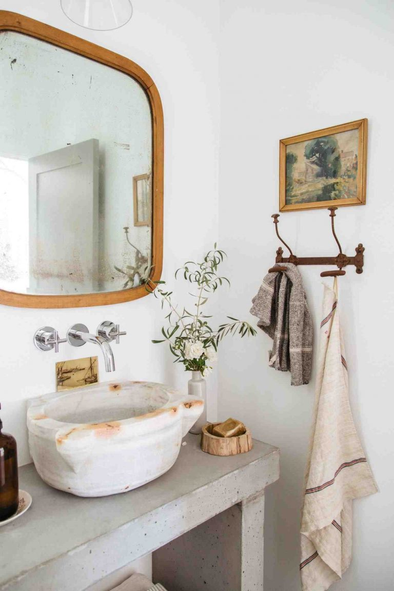 Unique Vessel Sink for the Industrial Farmhouse Bathroom