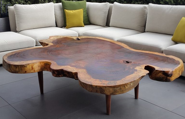 Unique Outdoor Wooden Coffee Table