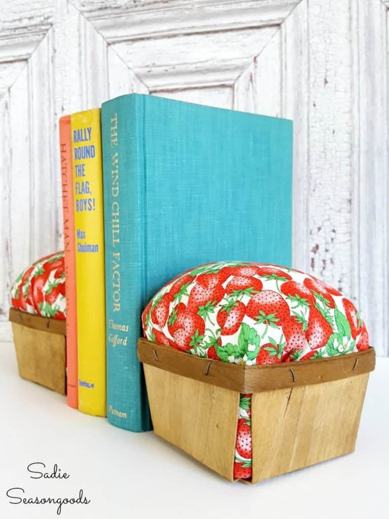 Vintage Fabric Bookends
