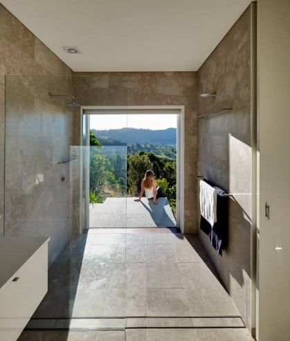 Walk-In Shower With A View