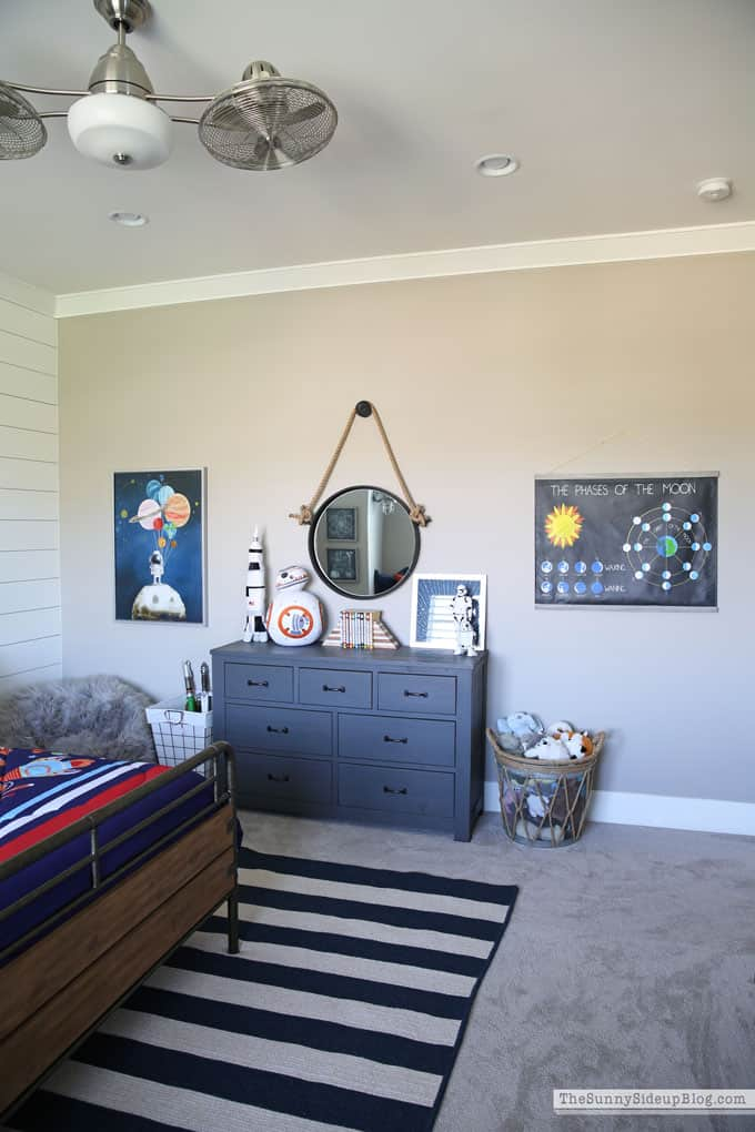 Wall Art Space Themed Bedroom