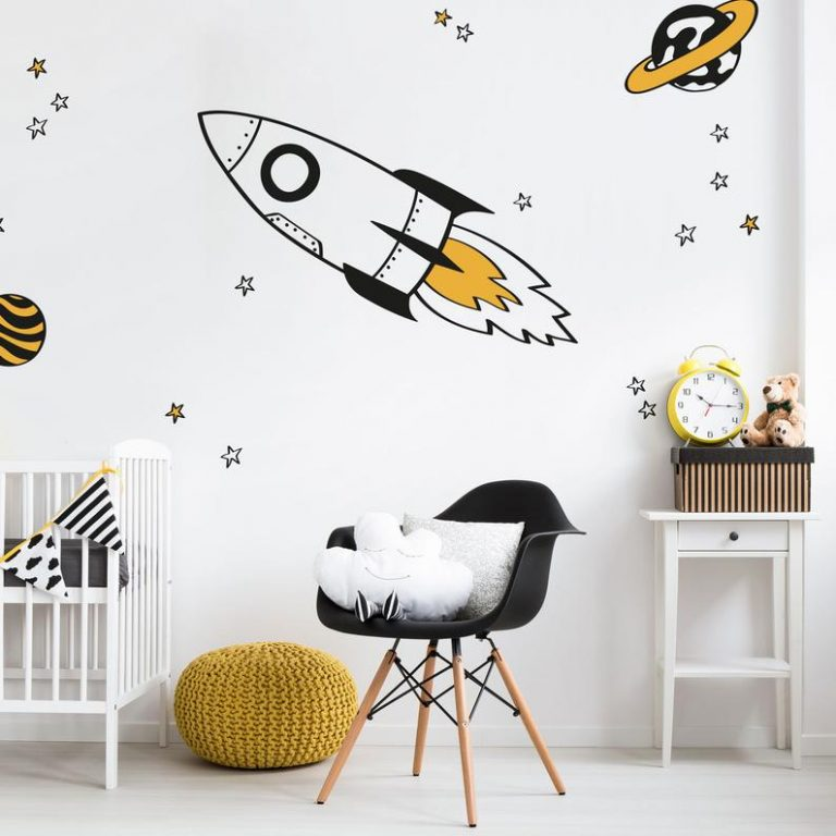 Wall Decal Space Themed Bedroom