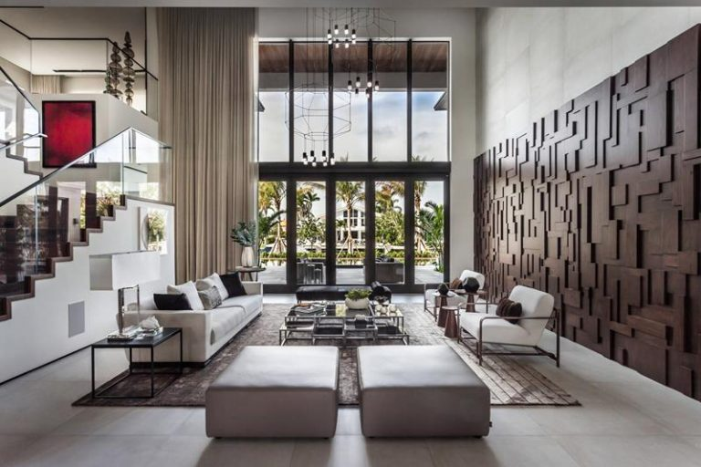 Wall Feature Mansion Living Rooms