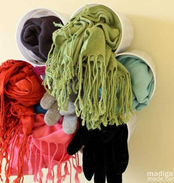 Wall-Mounted Scarf Holder