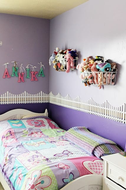 Wall-Mounted Stuffed Animal Storage