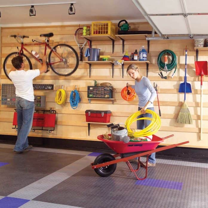 Wall-mounted Garage Shelves