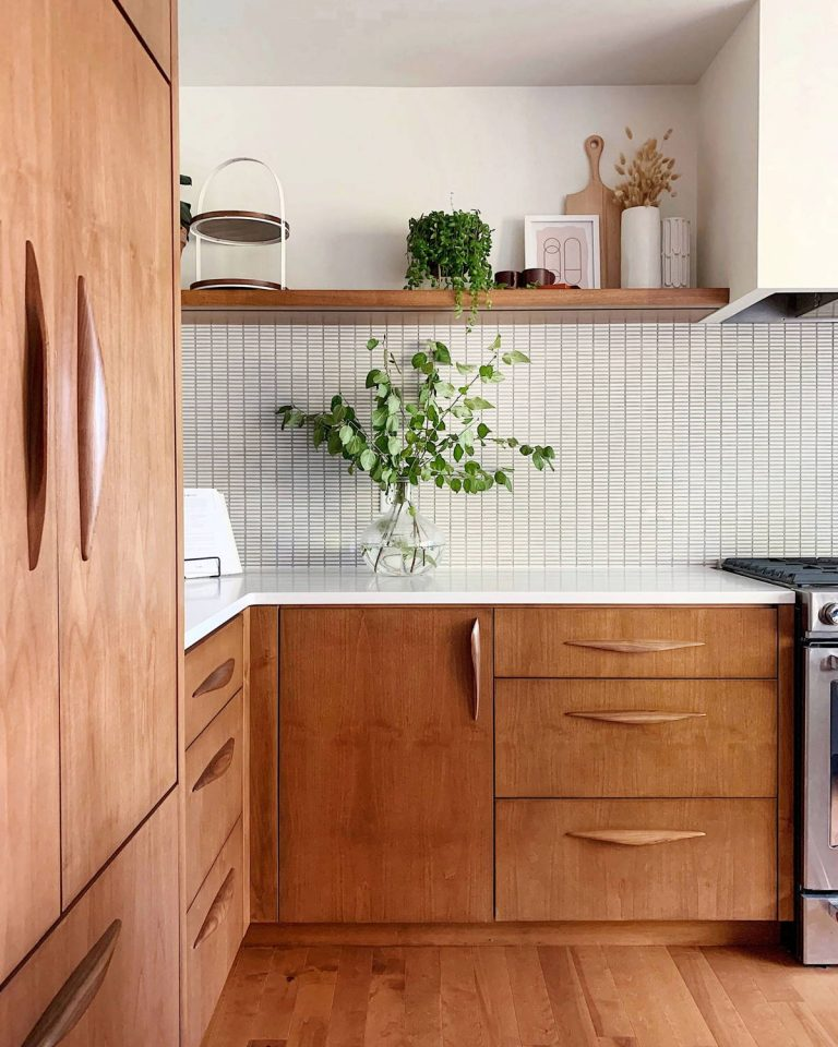 Warm Mid Century Modern Kitchen