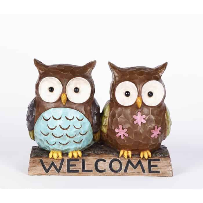 Welcome Sign Owl Decor
