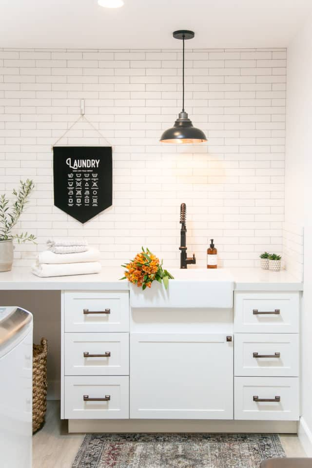 White Modern Laundry Room Paint Colors