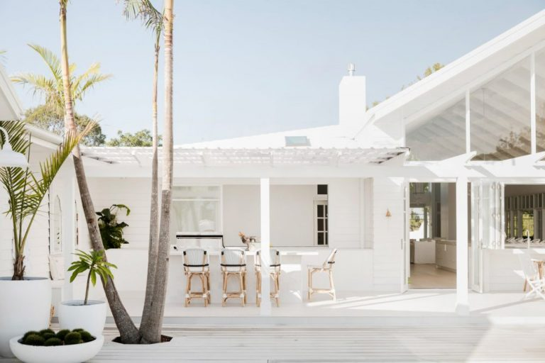 White Outdoor Kitchen