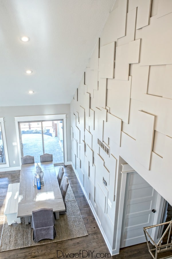 White Plywood Accent Wall Ideas
