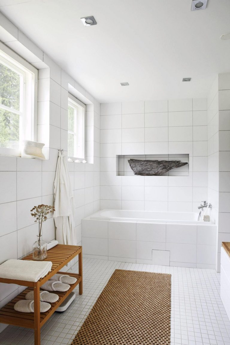 White Tiles Bathroom Ideas