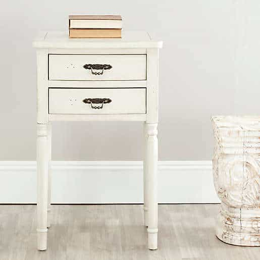 White Vintage Small Nightstand Ideas