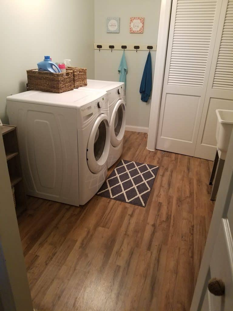 White and Wood Laundry Room Paint Colors