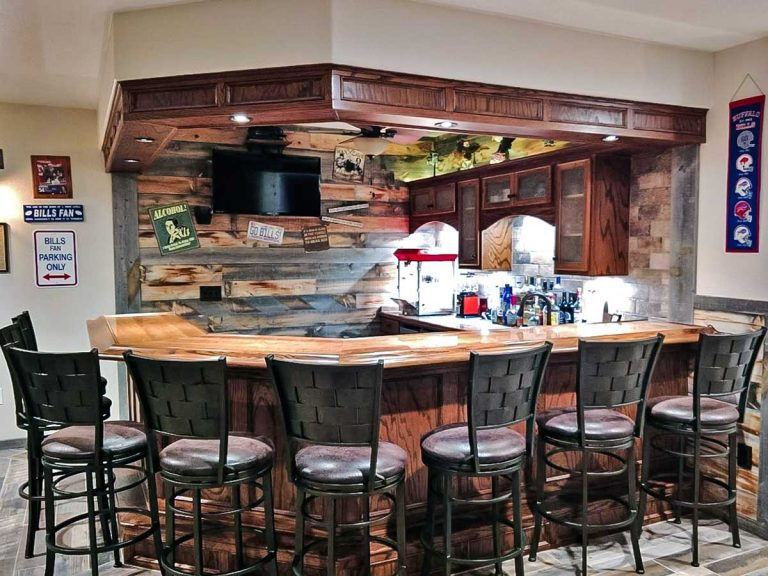 Wood Accent Wall Ideas For Bar