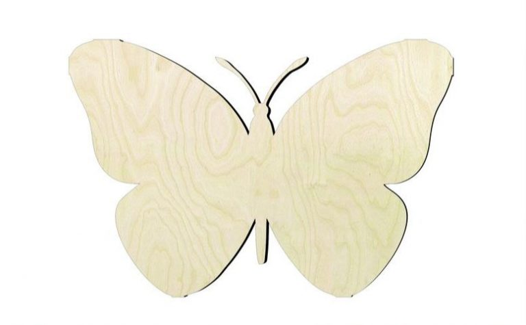 Wood Craft Butterfly Decorations
