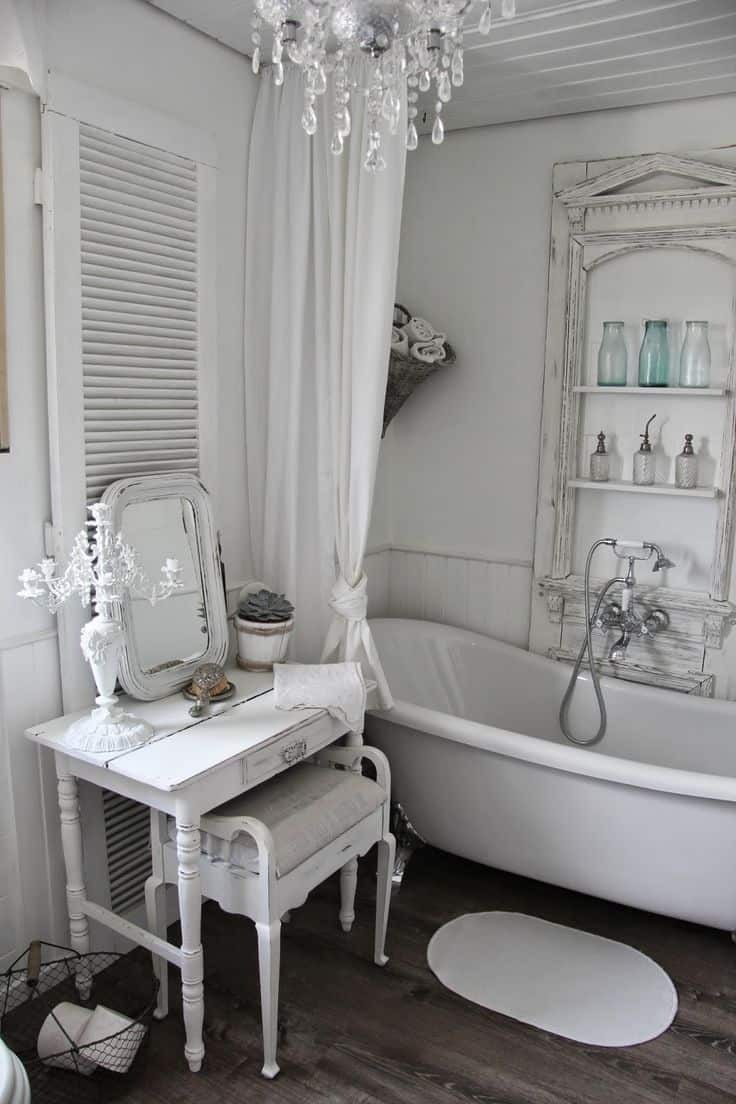 Wood Flooring Shabby Chic Bathroom