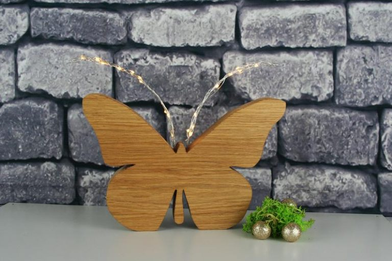 Wood Light Butterfly Decorations