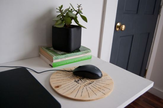 DIY Wood Mouse Pad