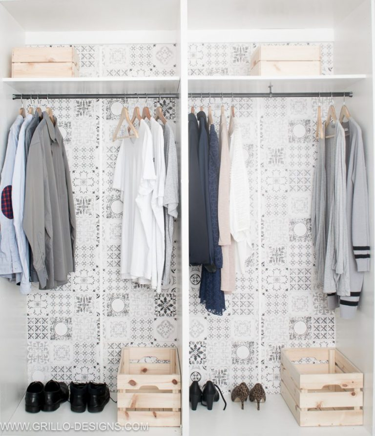 Wood Painted Closet Organizer