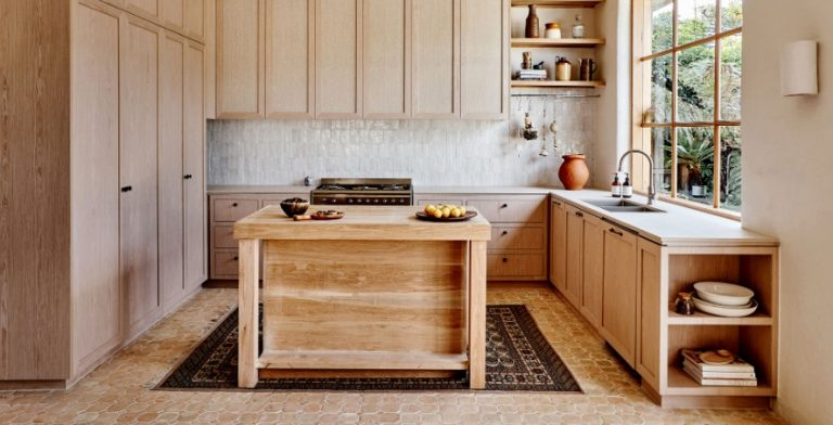 Wooden Mid Century Modern Kitchen