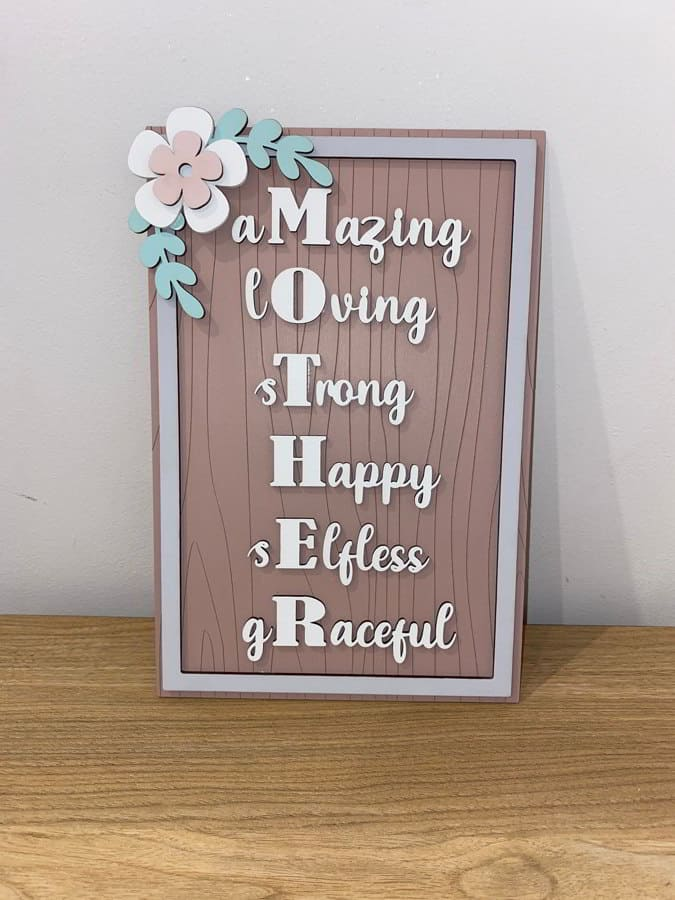 Wooden Mothers Day Signs