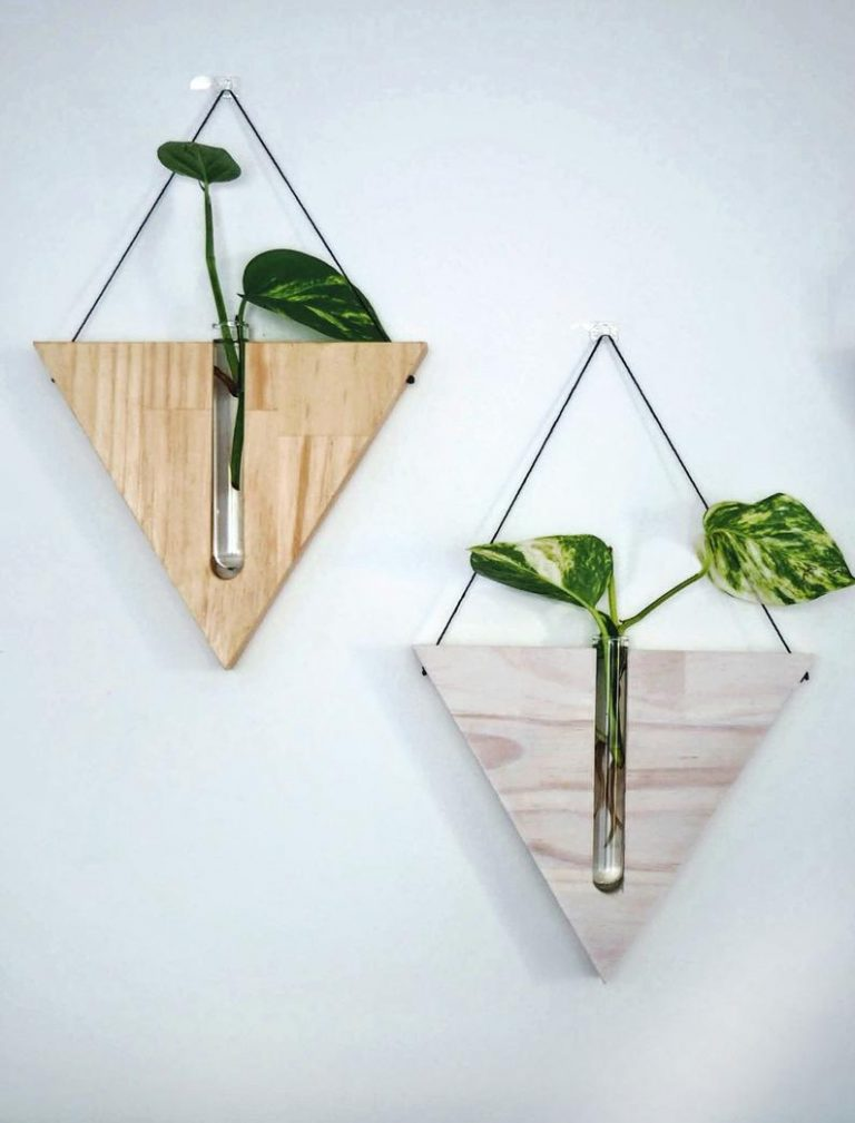 Wooden and Timber Vase Wall Planters Indoor