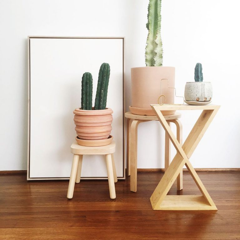 X-Shaped Plant Stand